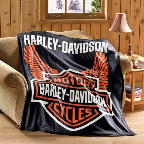 Harley Davidson Fleece Throw Blanket ...