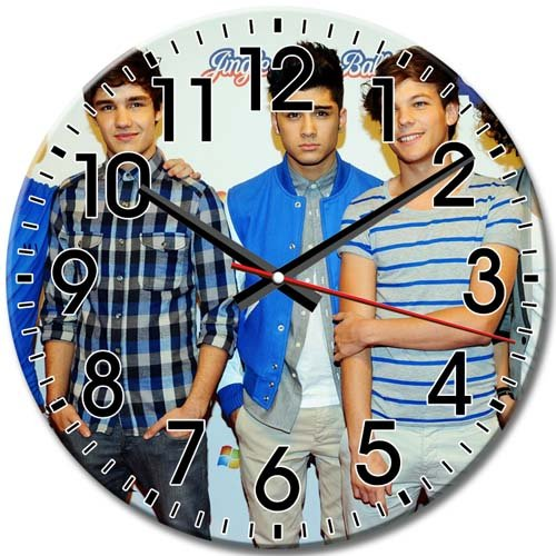 Silent Technology Frameless Arabic Numbers One Direction Fashionable Round Wall Clock 10 Inch / 25 cm Diameter (One Direction Number Clock compare prices)