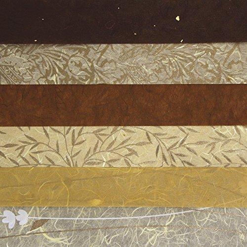 Rayher - 7141700 - Papier-Set DIN A3 Braun-Töne, SB-Btl. 6 Stück verschiedene Farbtöne