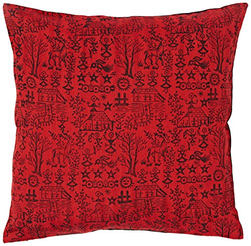the-indian-promenade-16-x-16-inch-blended-cotton-warli-print-cushion-cover-bright-red
