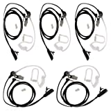 5 X 1 Pin Air Covert Acoustic Tube Earpiece Headset Compatible For Motorola TLKR T60 T80 T3 T4 T5 MD200 MB140R,T5428, T6200 Two Way Radio Walkie Talkie (5 Packs)