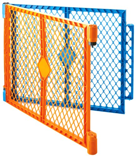 North States Industries Superyard Play Yard Colorplay 2 Panel Extension Kit, Orange/Blue