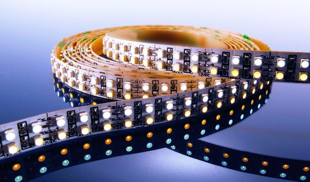 KapegoLED Flexibler LED Stripe, 3528, SMD, 12 V DC, 57,60 W, warmweiß und kaltweiß 840056