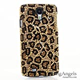BlingAngels® Luxury Swarovski Crystal Diamond Bling Leopard Design Case Cover for Samsung Galaxy S4 S IV i9500 fits Verizon, AT&T, T-mobile, Sprint and other Carriers (100% Handcrafted by BlingAngels with Pink Carrying Pouch)