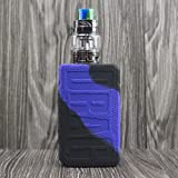 CEOKS for Voopoo Drag 2 177W Silicone Case, Anti-Slip Protective Silicone Case Skin Rubber Cover for Voopoo Drag 2 177W TC Mod Box Rubber case wrap Shield (Purple/Black) (Color: Purple/Black)