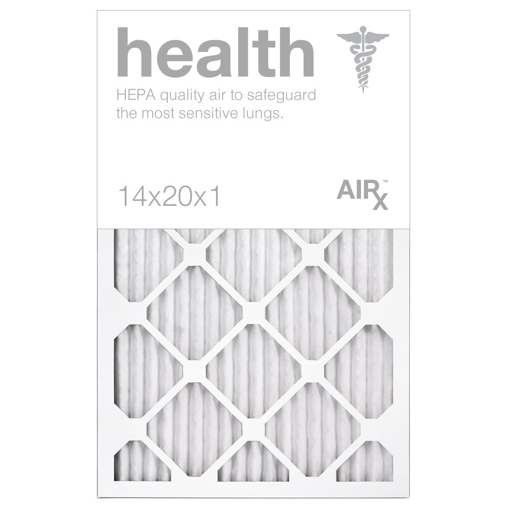 Optimal for Health Protection - AiRx HEALTH 14x20x1 Air Filters - Box of 6 - Pleated 14x20x1 MERV 13 Air Filters, AC Filter, Furnace Filter, HVAC Filter - Energy Efficient