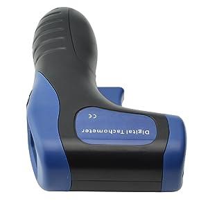 Ehdis Digital LCD Foto tac/ómetro sin Contacto RPM medidor de Velocidad del Motor Calibre Pistola Estilo Incluye 10 Cintas Reflectantes