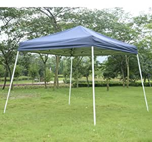 outsunny slant leg easy pop up canopy party tent 10 39 x 10 39 blue family tents. Black Bedroom Furniture Sets. Home Design Ideas