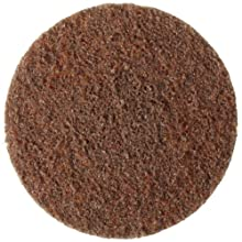"Weiler Tiger 3"" Diameter, Coarse Grade, General Purpose, Non-Woven Surface Conditioning, Brown Plastic Button Style Disc"