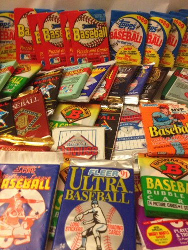 200 Vintage Baseball Cards in Old Sealed Wax Packs - Perfect for New Collectors
