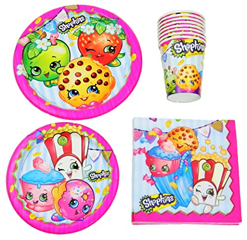 Fantastic Deal! Shopkins Birthday Party Supplies Pack Bundle - Lunch Plates, Dessert Plates, Napkins...