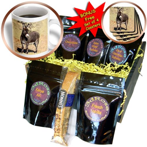 cgb_1236_1 Farm Animals – Miniature Donkey – Coffee Gift Baskets – Coffee Gift Basket