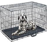 ottostyle.jp 折り畳み式 ドッグサークル (トレイ付き) 中型犬用 幅84cm×奥行き56.5cm×高さ63cm【ペットケージ、ドッグルーム】