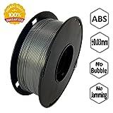 NovaMaker 3D ABS-1KG1.75-SIL ABS 3D Printer Filament, Dimensional Accuracy +/- 0.03 mm, 1 kg Spool, 1.75 mm, Silver (Color: Silver)