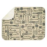 InterDesign iDry Microfiber Dish Drying Mat, 18-Inch by 24-Inch, Wheat/Ivory