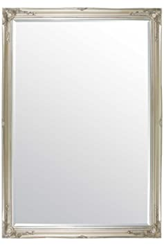 Extra Large Classic Ornate Styled Silver Mirror 6ft7 x 4ft7 (201cm x 140cm)