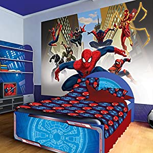 marvel spiderman group wallpaper mural diy tools. Black Bedroom Furniture Sets. Home Design Ideas