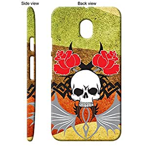 TheGiftKart™ Abstract Art Scary Skull Tattoo 28th Design Back Cover Case for Motorola Moto G Turbo - Multicolor