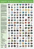 Edelsteine Heilsteine Poster. Steine Poster Groß DIN A1 mit 153 Steinen. - ORIGINAL vom Aktuelle Medien Verlag