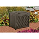 Suncast SSW900 Wicker Deck Box, 22 gallon