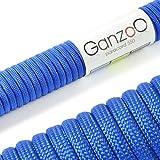 """Universell einsetzbares Survival-Seil aus reißfestem """"Parachute Cord"""" / """"Paracord 550"""" (Kernmantel-Seil aus Nylon), 550lbs, Gesamtlänge 31 Meter (100 ft) Farbe: blau WICHTIG: DIESES PARACORD SEIL IST NICHT ZUM KLETTERN GEEIGNET!- Marke Ganzoo"""