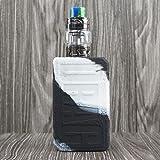 CEOKS for Voopoo Drag 2 177W Silicone Case, Anti-Slip Protective Silicone Case Skin Rubber Cover for Voopoo Drag 2 177W TC Mod Box Rubber case wrap Shield (Black/White) (Color: Black/White)