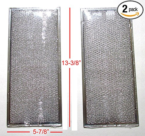 "( 2 Pack ) 4393691 Microwave Grease Filter ( 5-7/8"" X 13-3/8"")"