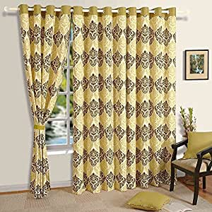 Cotton geometric print door curtains 54 x 84 inch for living room set of 2 panels - Amazon curtains living room ...