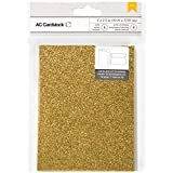 American Crafts Glitter Cards and A7 Envelopes for Scrapbooking, 4.25 by 5.5-Inch, Sunflower