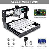 CNC 3018 Pro GRBL Engraving Machine,DIY Woodworking Carved Small CNC 3 Axis Plastic Acrylic PCB PVC Wood Carving Milling, XYZ Working Area 300x180x45mm (Tamaño: 3018 Pro)