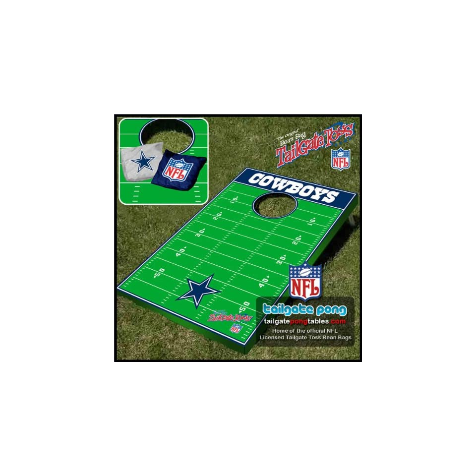 Dallas Cowboys NFL Tailgate Beanbag Toss Cornhole Game  Combination Game Tables  Sports & Outdoors