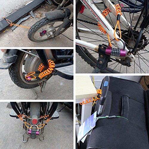 NUOLUX-Blocco-cavo-12-m-a-disco-bici-moto-Disc-Lock-cavo-filo-arancione