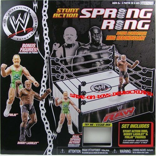 Buy Low Price Jakks Pacific WWE Stunt Action Spring Ring with 2 Figures: Bobby Lashley & Finlay (B0017TVBBU)