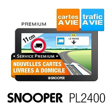 Snooper PL 2400 GPS Eléments Dédiés à la Navigation Embarquée Europe Fixe, 16:9