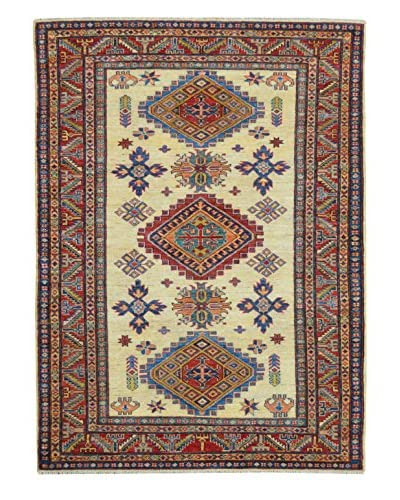 Kalaty One-of-a-Kind Kazak Rug, Ivory, 4' x 6' 3 As You See