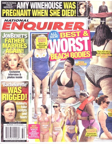 August 8, 2011 National Enquirer Best and Worst Beach Bodies