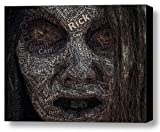 The Walking Dead Zombie Names Mosaic Incredible Framed 9x11 Limited Edition with COA