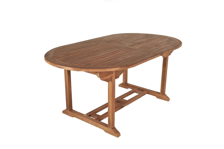 SAM® A Klasse Teak-Holz Gartentisch, Ausziehtisch Bandar, Holztisch mit Sonnenschirmloch, aus Massivholz, ideal für den Garten günstig bestellen