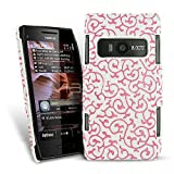 Femeto Pink Swirls Leather Back Cover for Nokia X7 X7-00 Nokia X7-00 Case Cover