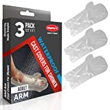 Adult Arm Cast Covers for Shower - 3 Pack - Waterproof Cast Cover - Reusable Cast Protector for Shower (Tamaño: Adult Arm)