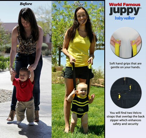 Juppy Baby Walker Momentum Yellow With Free Matching Travel Bag front-1038244