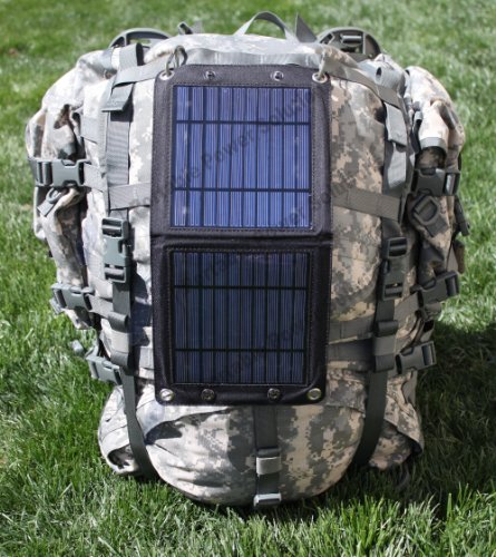 Portable Power Solutions™ Bi Pod™ 7W Foldable Solar Panel Solar Charger for 5V USB-charged Devices Cell Phone Charger Including GPS Units, iPhone 4 4S 5 5S 5C, iPad, Samsung Galaxy, Google Nexus, Windows Phones, plus many other Android Smart Phones and Android Tablets(Adapters Not Included)