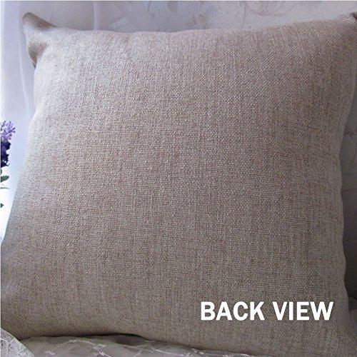 Popular Cotton Linen Decorative Pillow Covers,18x18 Inch Couch Throw Pillow Case purple/light ...