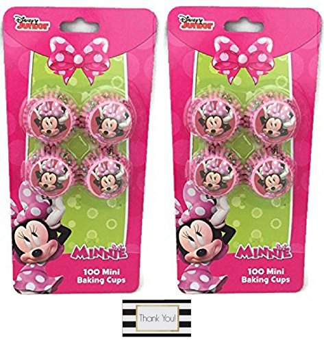 Minnie Mouse Mini Baking Cups - Two Packs of 100 (Hostess Cupcakes Maker compare prices)