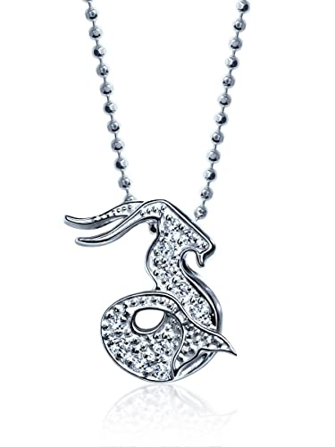 Alex Woo Little Signs Diamond and 14k White Gold Zodiac Pendant