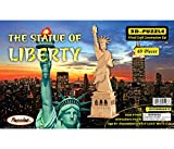 Puzzled The Statue Of Liberty, Eiffel Tower and Leaning Tower of Pisa Wooden 3D Puzzle Construction Kit