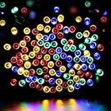 Dephen Twinkle LED Party Decorative String lights with 8 modes,22m 200 LEDs Plug-in Christmas Lights for Wedding Xmas Halloween Diwali Outdoor Indoor Decoration(Multi-color)