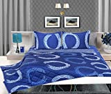 Bellagio Elegance Cotton 1 Double Bed Sheet & 2 Pillow Covers (Blue)