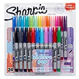 Sharpie Permanent Markers, Ultra Fine Point, Assorted 2015 Colors, 24-Count