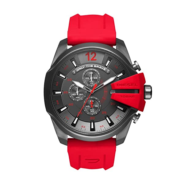 eda4d2900736 Diesel Men s Mega Chief Quartz Stainless Steel and Silicone Chronograph  Watch